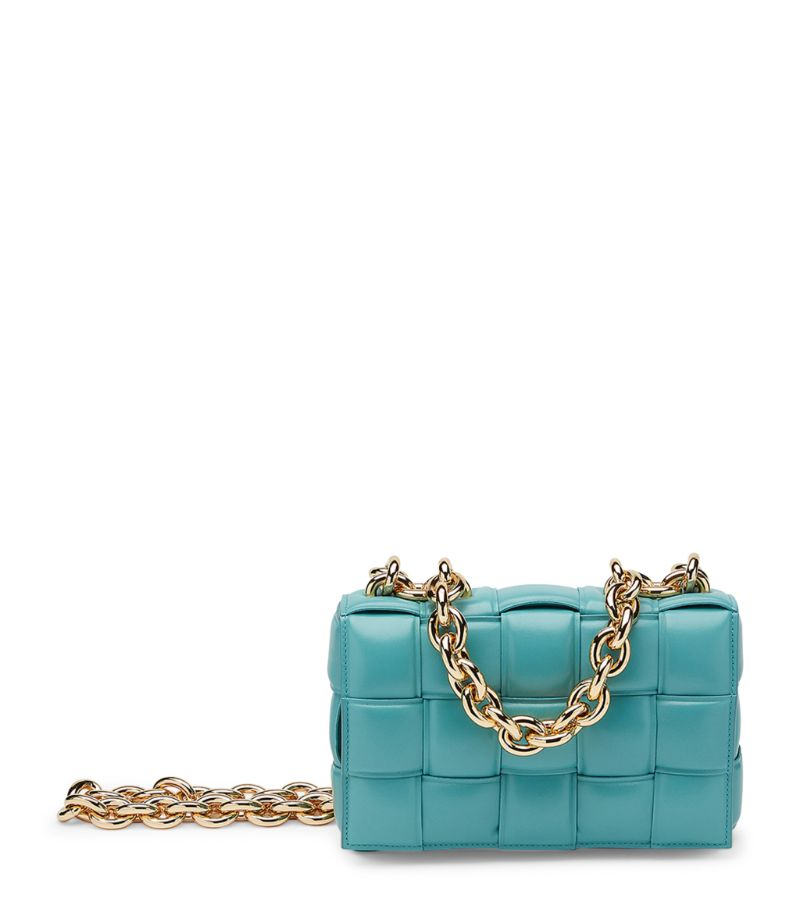 Showcasing the brands exquisite Italian craftsmanship in full force, the Chain Cassette bag from Bot