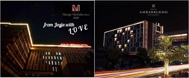 15 Potret hotel di Jogja nyalakan love light di tengah wabah corona