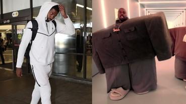 NBA 球員泰瑞斯坦·湯普森被小拖鞋也很有戲,向肯爺風格致敬