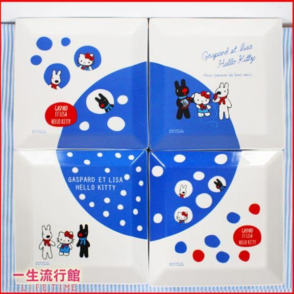 《限量》7-11集點 Hello Kitty 凱蒂貓 n麗莎和卡斯柏 正版 大方盤子 餐盤 餐具