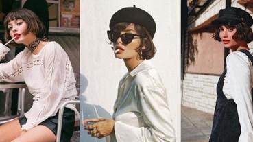 「法式慵懶風」真的好耐看!貝蕾帽與紅唇,學習復古女郎 Taylor LaShae 的穿衣哲學