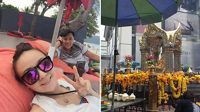 藝人王仁甫和季芹4年前去蘇美島和曼谷旅行,遇上恐怖爆炸案。圖/翻攝自王仁甫和季芹之永遠的芹仁臉書