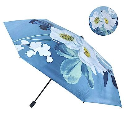 遮光黑膠塗層,有效阻隔紫外線 彈力伸縮帶,防掉好攜帶 8骨FRP傘架,防風耐折彎 防潑水傘布,易乾不弄濕