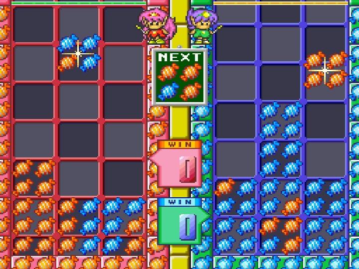 2位玩家會共用同1組「Next方塊」,看到有利的方塊就要眼明手快搶先使用。
