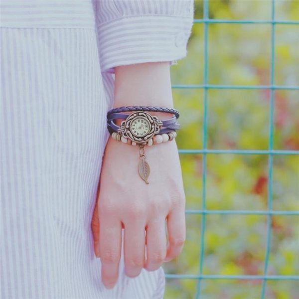 手錶女復古纏繞式小清新森女系閨蜜可愛韓版簡約學生手錬腕表