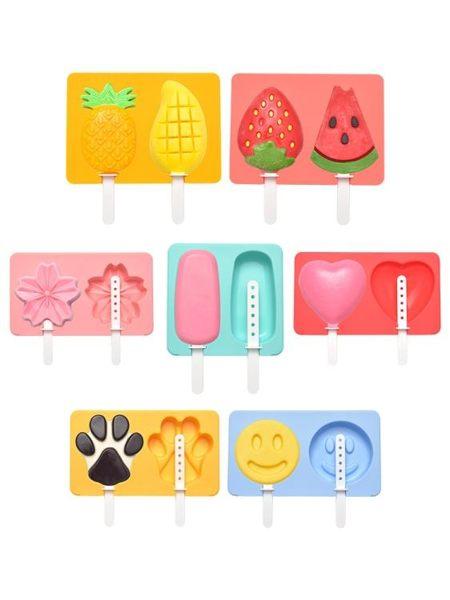 展藝硅膠雪糕模具diy手工家用自制可愛創意冰激凌冰淇淋冰棒模具