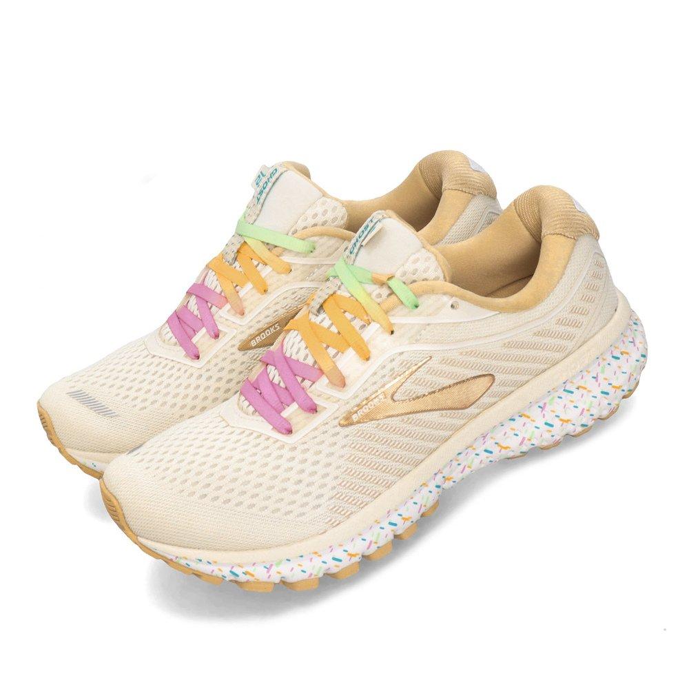 BROOKS 慢跑鞋 Ghost 12 運動休閒 低筒 女鞋 路跑 馬拉松 甜點限定款 避震 透氣 米 金 [1203051B177