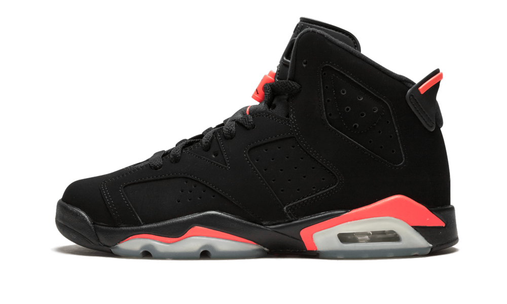 Perhaps the most beloved of all Air Jordan 6 colorways, the 'Black/Infrared' look is among the great