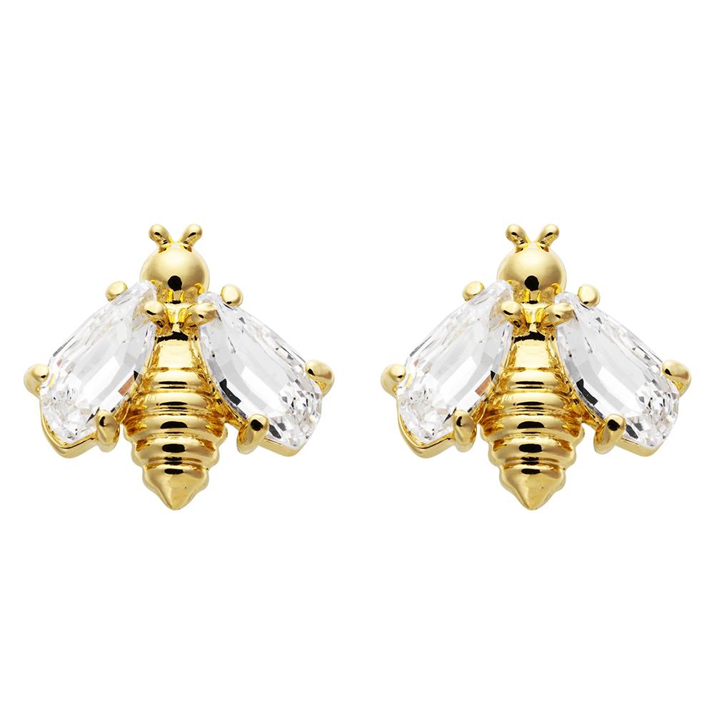 金色蜜蜂造型搭配透明水晶的翅膀屬於大人的童趣,活潑閃耀