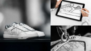 精品球鞋又一雙!DIOR推全新 B27 休閒鞋 把老花用雷射雕刻在身上復古又時髦