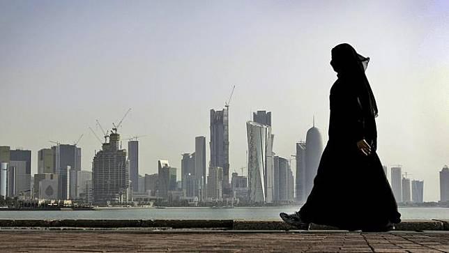 Ilsutrasi kota Doha, ibu kota Qatar (AP/Kamran Jebreilli)