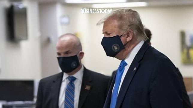ทรัมป์ยอม 'สวมหน้ากาก' ออกสื่อ ขณะเยือนโรงพยาบาลทหาร