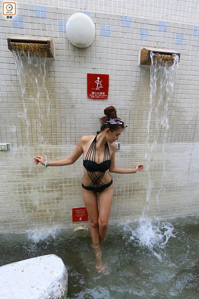 水流養身步道也讓人玩到樂而忘返。(劉達衡攝)