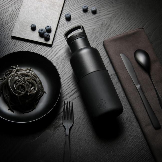 HYDY 油墨黑-黑瓶 時尚保溫水瓶480ml + 刷具