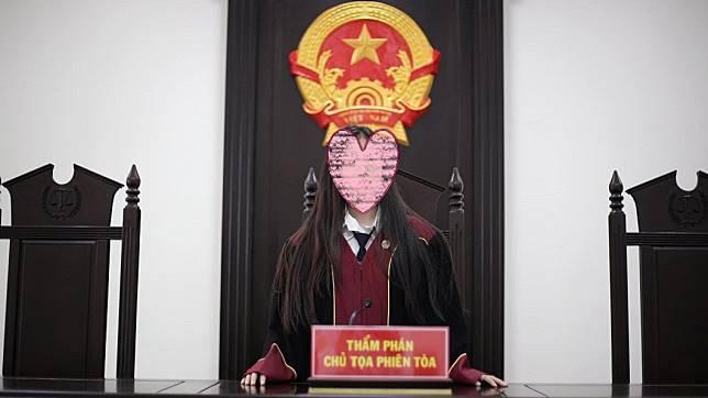 超正法官引發網友暴動。圖/翻攝自Lê Thị Mỹ Nhi臉書