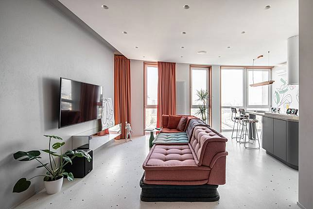 Desain Interior Apartemen Modern Minimalis Yang Chic Dan Penuh Warna Arsitag Com Line Today