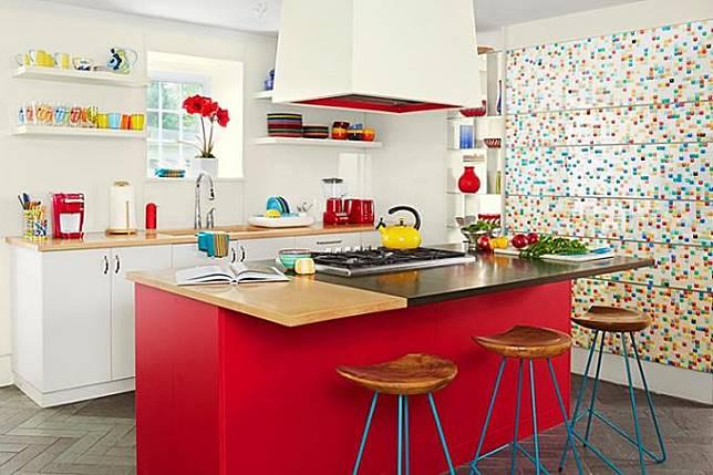 5 Inspirasi Desain Dapur Warna Warni