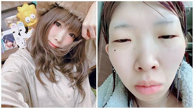 日本1名女YouTuber,靠著分享化妝技巧而擁有高人氣。(圖/翻攝自推特)