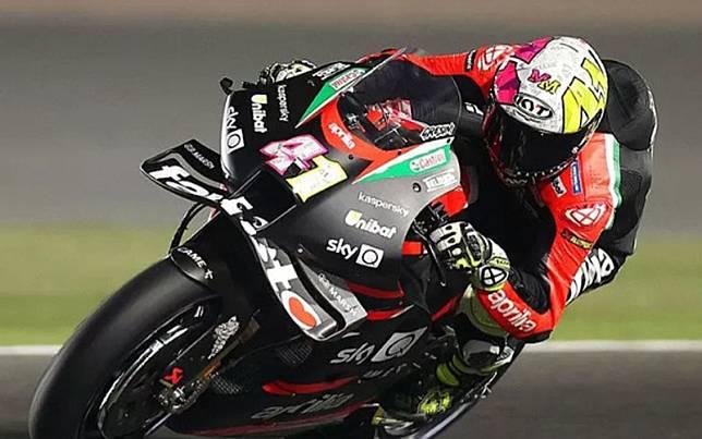 Pebalap tim Aprilia Racing Team Gresini Aleix Espargaro./Antara/AFP