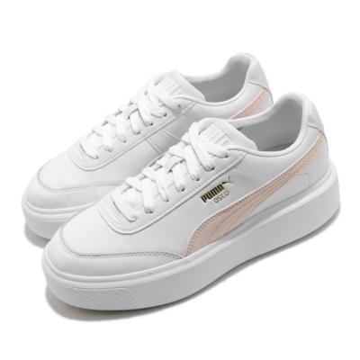 Puma 休閒鞋 Oslo Maja 低筒 運動 女鞋 基本款 簡約 舒適 球鞋 穿搭 厚底 白 粉 37486404