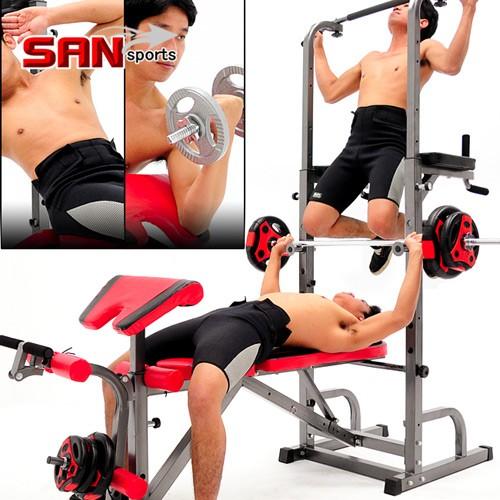 第四代室內單槓雙槓+舉重床MC177-10104仰臥起坐板仰臥板健腹機健腹器拉單槓吊單槓運動健身器材