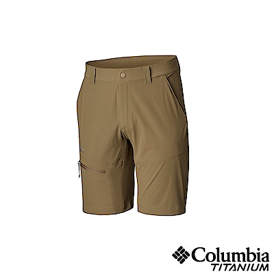 Columbia 哥倫比亞男款-鈦UPF50極輕量防潑短褲-棕色UAM06860BN