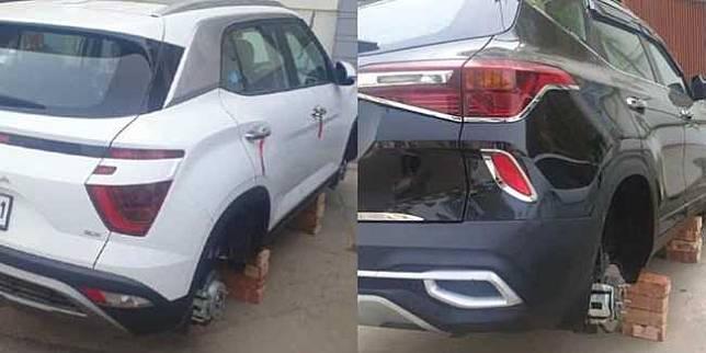 Maling curi ban dan velg mobil (Cartoq)