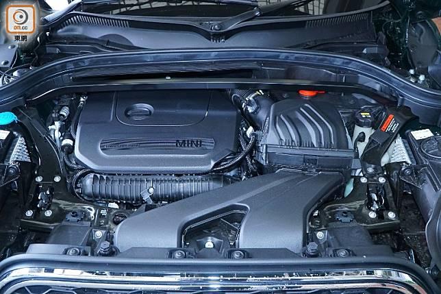 306hp馬力來自這具導入了MINI TwinPower Turbo技術的2.0L直四渦輪增壓引擎。(莫文俊攝)