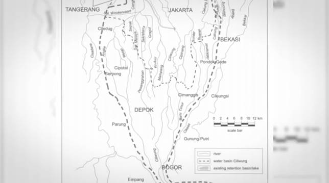 Beginilah letak geografisnya Jakarta, jadi memang Jakarta yang ditempati sekarang itu terbentuk dari tanah hasil endapan sungai. Ngga heran, sungai yang melintas di Jakarta aja banyak banget, ya jelas aja berpotensi banjir.