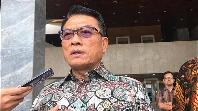 Kepala Staf Kepresidenan Moeldoko di Kompleks Parlemen, Senayan pada Rabu, 13 November 2019. TEMPO/Dewi Nurita