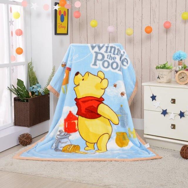 【崑山玩具x日韓精品】小熊維尼羊羔絨毯-束口袋裝/保暖毯/毛毯/冬天棉被