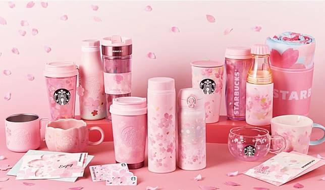 粉紅Fancy的花杯,設計靈感來自Spring Breeze。售620日圓(約HK$44)起(互聯網)