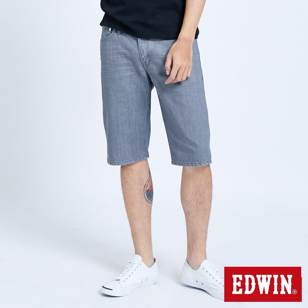 新品↘EDWIN 503 基本五袋式 五分牛仔短褲-男款 灰色 SHORTS