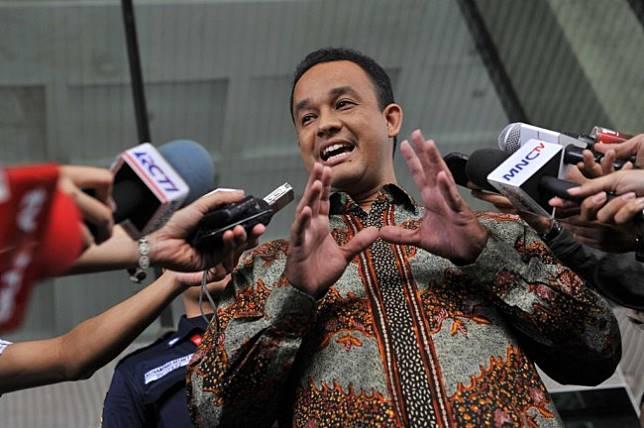 Gubernur DKI Jakarta Anies Baswedan. Foto: Antara/Puspa Perwitasari.