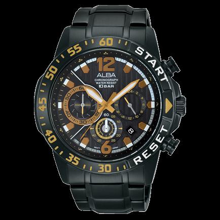 ALBA VD53-X239SD(AT3965X1) 活力運動計時腕錶/44mm