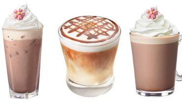 雪白奶油點綴一朵粉紅櫻花糖霜!星巴克2款「粉櫻限定飲品」喝起來,春櫻蜜桃紅茶拿鐵太夢幻