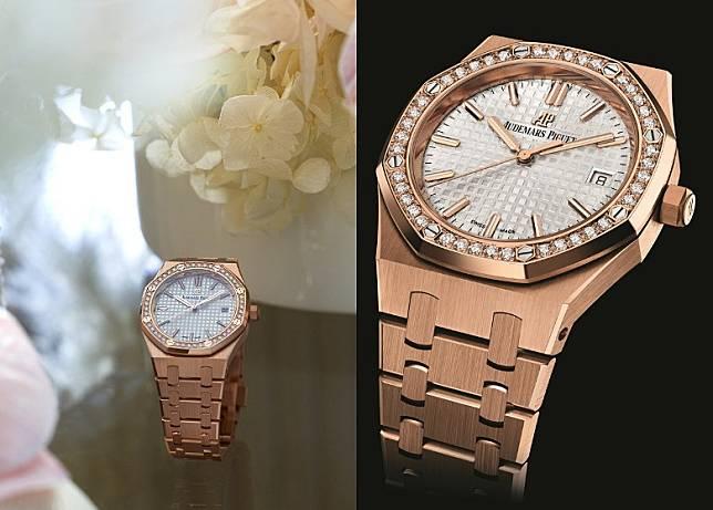 18K玫瑰金錶殼配鑲鑽錶圈Royal Oak Selfwinding自動上鏈腕錶  HK$349,000(互聯網)