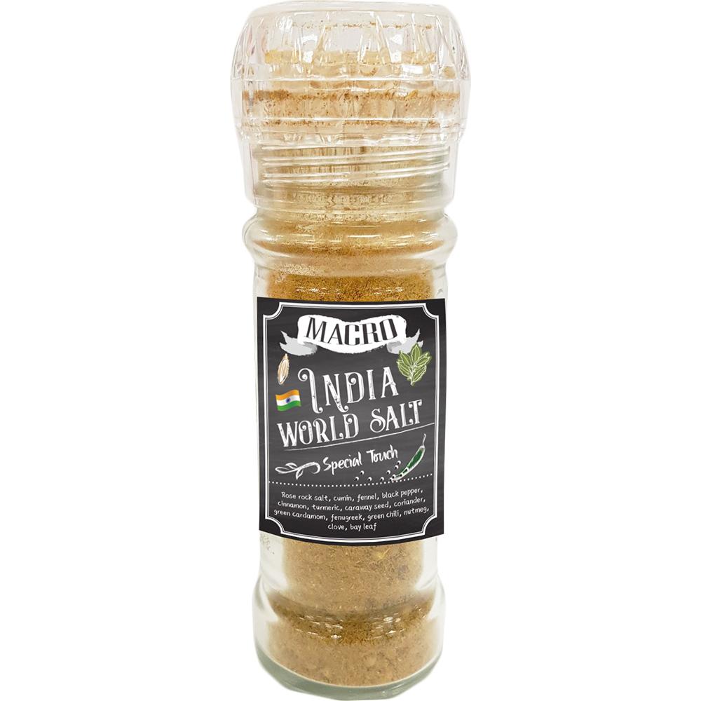 國際條碼:8412206002535macro 印度咖哩風味研磨罐 india world salt special touch 60g