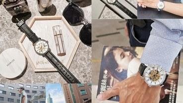 (穿搭/手錶)來自香港的設計師品牌-擁有30年精緻工藝-LOBOR大都會系列手錶,石英錶,簍空機械錶