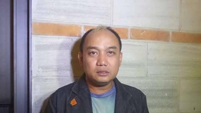 Aziz gagap saat ditemui di kawasan Jakarta Pusat, Jumat (20/1/2017). [Suara.com/Wahyu Tri Laksono]