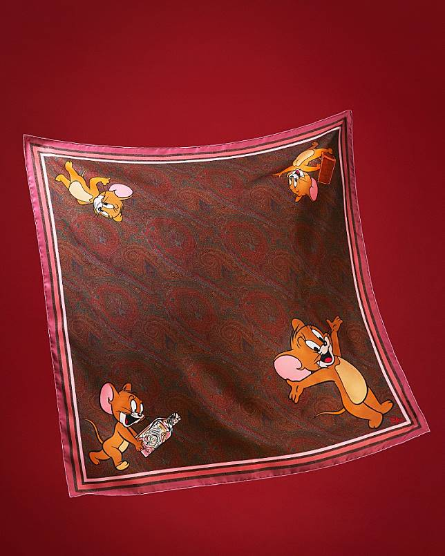 ETRO × TOM AND JERRY 絲巾(互聯網)