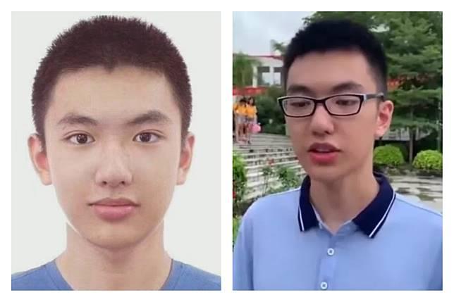 ▲廣西省學生楊晨煜,高考拿下英文、數學雙滿分破了當地紀錄,帥氣顏值更讓他在網路爆紅。