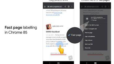 Android 版 Chrome 85 導入「Fast Page」標籤,醒目標示符合 Core Web Vitals 指標的網站