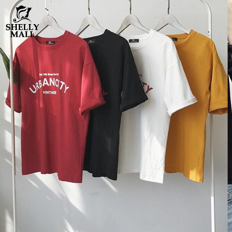 [希希家] 短袖T恤 情侶裝 休閒寬鬆T恤上衣 韓版夏季新款學生情侶班服 寬鬆大碼男女原宿風休閒圓領上衣T恤 女生衣著