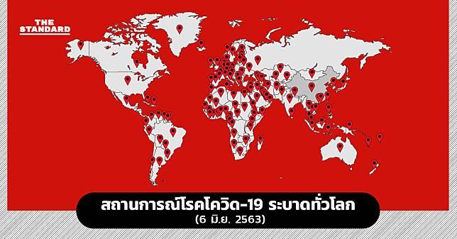 สถานการณ์โรคโควิด-19 ระบาดทั่วโลก (6 มิ.ย. 2563)