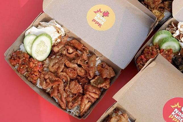 makanan kekinian Nasi Kulit Viral