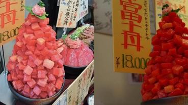 巨無霸鮪魚生魚片丼飯,吃完我真的要變成鮪魚肚了!