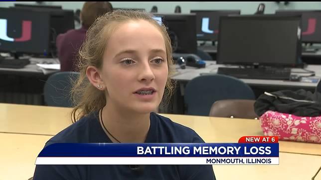 ▲美國 16 歲少女萊莉·侯那爾( Riley Horner )每 2 小時就會失憶一次。(圖/翻攝自 WQAD )