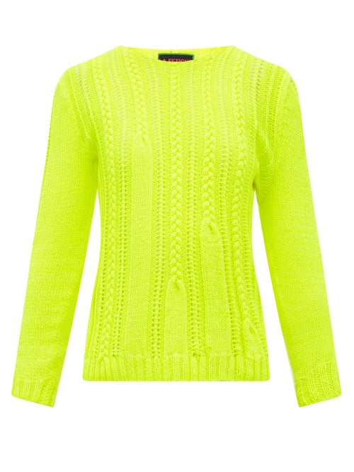 La Fetiche - La Fetiche draws on neon trends for AW19 with its fluorescent-yellow Ivy wool sweater.