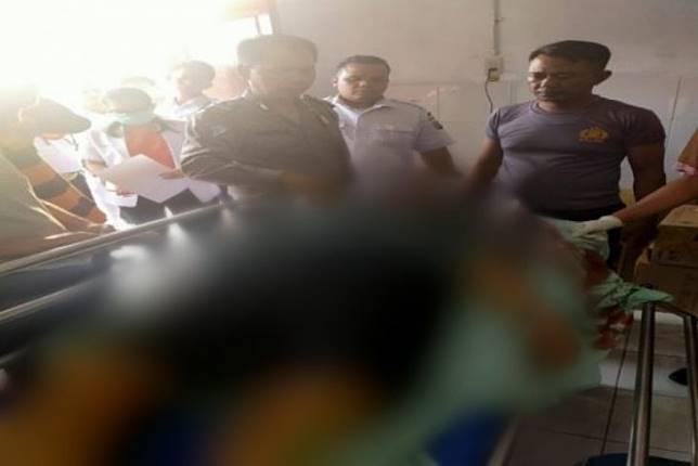 Korban Pengendera Sepeda listrik yang tewas di TKP berada di RS.Bhayangkara Tebing Tinggi (ANTARA/HO-Lantas Polres TT)